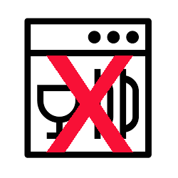 Not Dishwasher Safe Icon